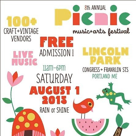 Save the date! #Flowfold will be in full force at the one and only #Portlandpicnic this Saturday 11-6 at Lincoln Park in Downtown Portland, Maine. Come say hello!