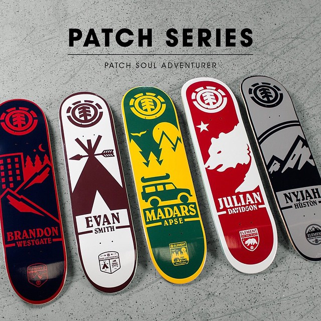 Introducing the 'Patch Series' Now available at ElementBrand.com and in skate shops world wide >>> Click the link in our bio >>> #elementskateboards