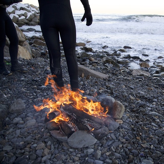 Can't get much better. Next time we bring marshmallows. @maxhirsh1 @jake_casey27 @jmcgraghan #coldasf #coldwatersurf #winter #instagood #photooftheday #like #picoftheday #instadaily #ig #instasurf #webstagram #bestoftheday #love #follow #igdaily...