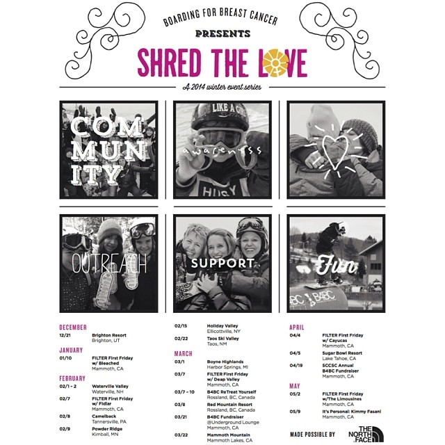 SHRED THE LOVE // B4BC has a full schedule of #ShredTheLove events this weekend and all season long! We're at @mammothmountain @undergroundmammoth on Friday, @skicamelback on Saturday, and @powderridge on Sunday!! Get involved and fundraise at...