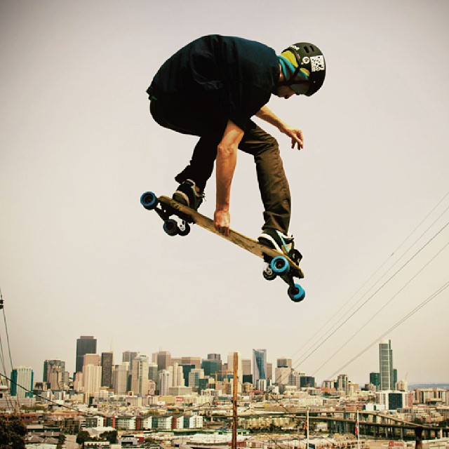 #Freebord #tbt Caleb Casey getting lifted over #SanFrancisco
