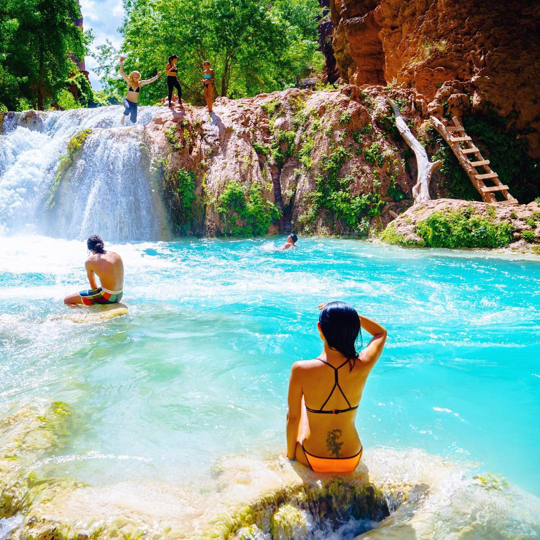 #Havasupai Tip No. 5: The earlier you take off for the Colorado River, the more time you'll have to play at Beaver Falls and the Colorado River. In case you happen to be hiking back in the dark, take your headlamp. Carry at least 3 liters of water, an...