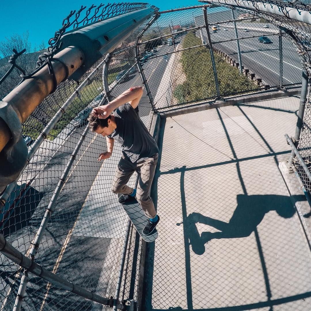 GoPro Featured Photographer - @chrisrayfilms  About the Shot: Mikey Taylor Smith Grind Overpass - Pro Skater @MikeyTaylor1 took me to this spot on on a freeway overpass in Thousand Oaks, CA, and I knew right away this would make a rad photo. I shot...