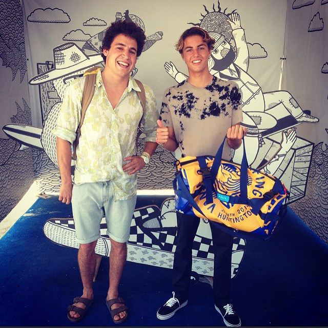 #CurrenCaples stoked on the @Vans x Mafia tote. This guy is currently ripping, check out his part in #Propeller. Thanks for #upcycling @currencaples ! #vansusopen @vansskate