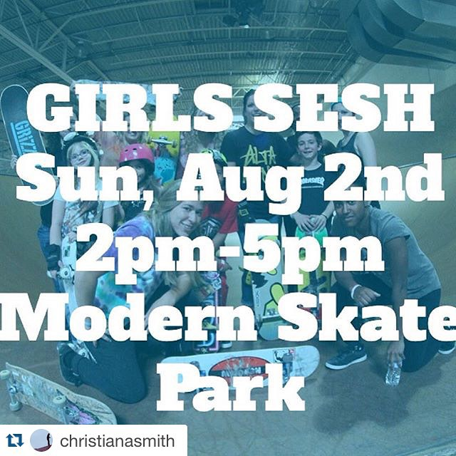 GRO SESSION SUNDAY 2pm-5pm @modernskate be there ladies! All ages and abilities. There will be goodies and gnar shredding. You could possibly win some sick stuff. Come hang @michigangrocrew @girlsridersorg #ridetrue #youcanshredwithus #ladiesofshred...