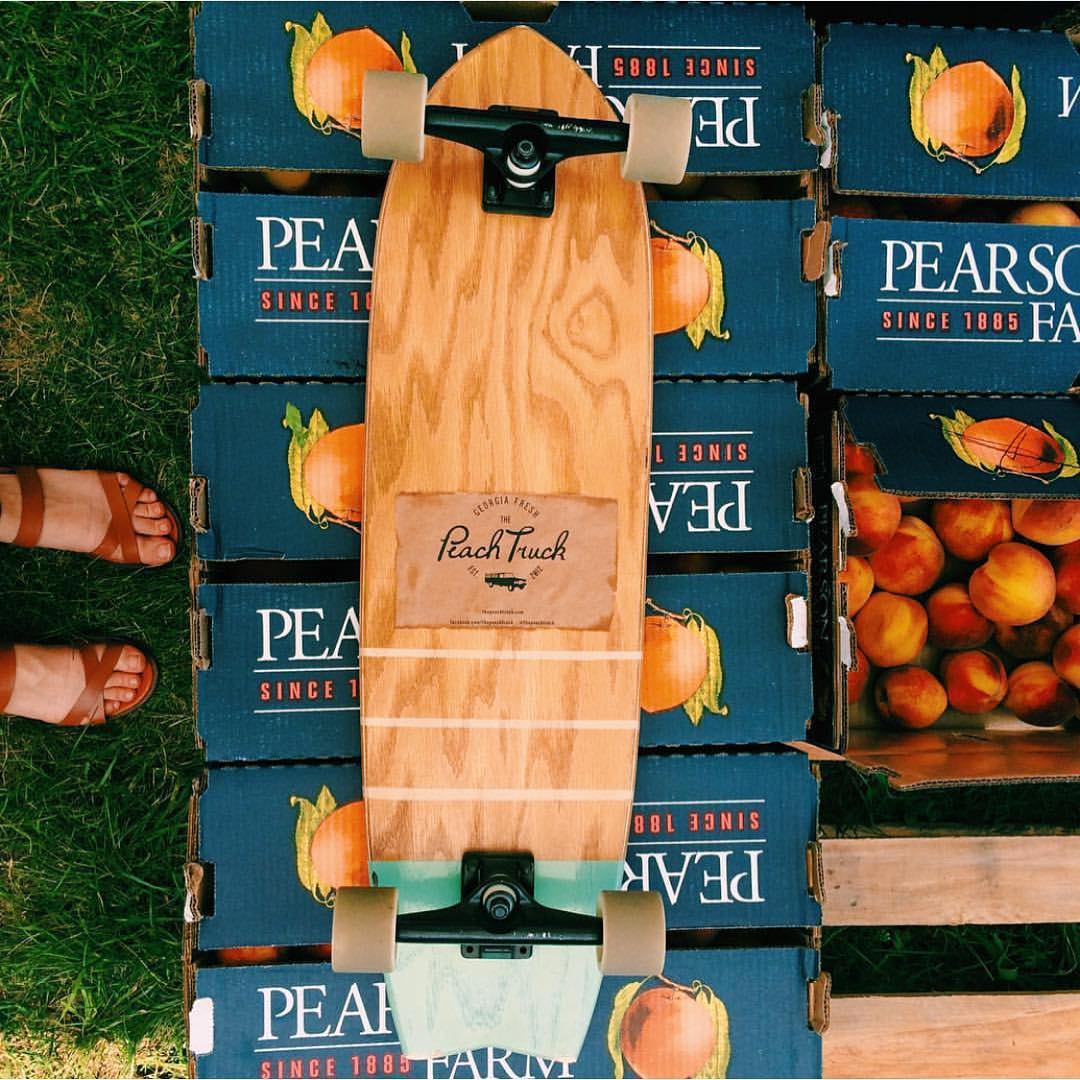 This is how @supchels does summer. We approve! @thepeachtruck #handmade #skateboards #nashville #MadeInAmerica