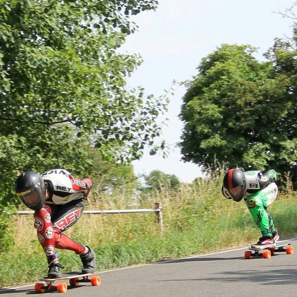 #regram from #orangatangambassadors @charlesouimet and @maxvickers tuck battling down a very fast road in the Czech Republic.  #kozakovchallenge  #Orangatang #Orange #Kegels