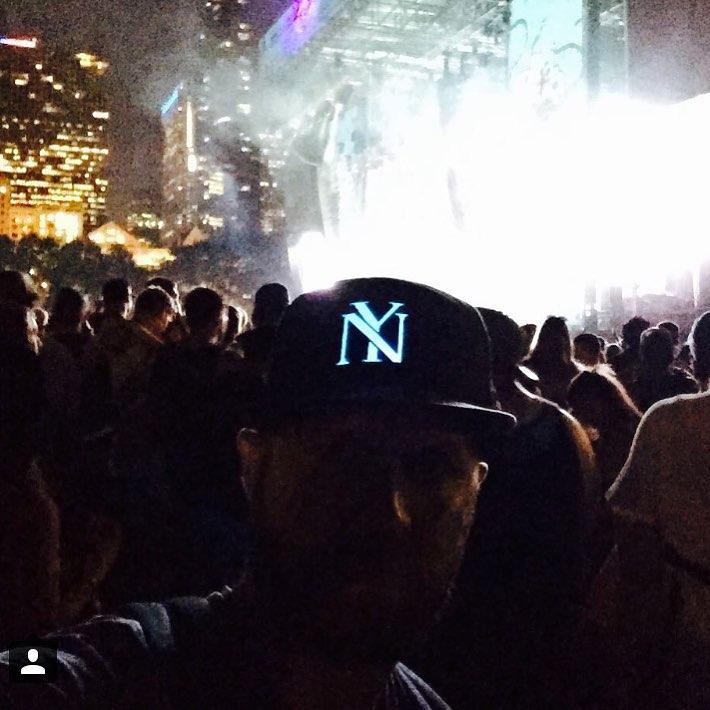 Shout out to @mattdavis0503, lighting things up at #Lollapalooza!  #lumativ #livebright #headgear #snapbacks #snapback #lolla
