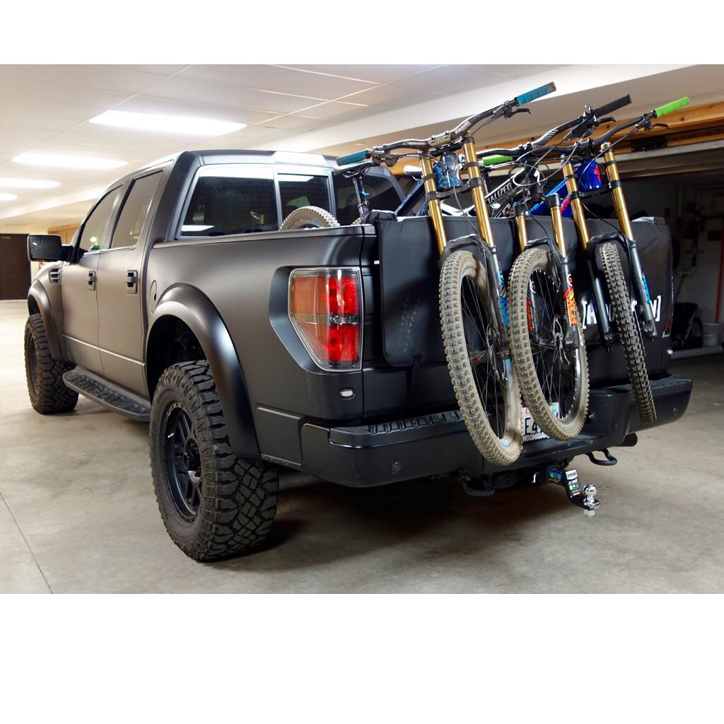 I like this view. Loaded up and ready to go shred earlier today. #FordRaptor #iamspecialized