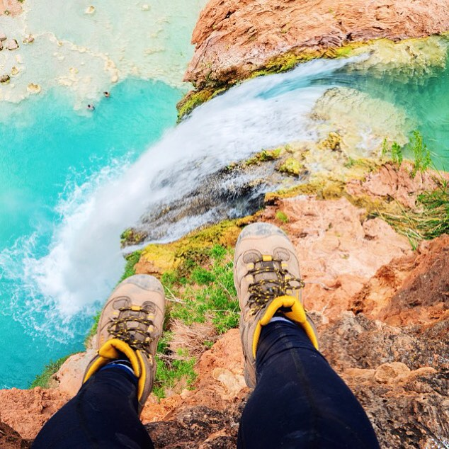 #Havasupai Tip No. 6: Shoes. The most important piece of gear you will have on this trip. If you're going to spend money on anything, do it on a solid pair of hiking shoes. It must be durable and waterproof as you will constantly be in and out of water...