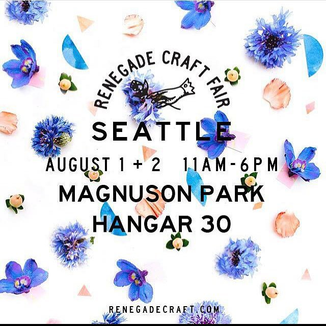 Come on thru, Seattle! We'll be at booth 55 today and tomorrow. #renegadecraftfair #renegadeseattle #seattle