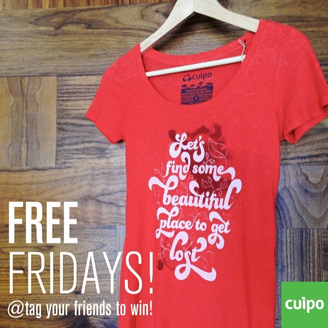 Win this shirt for your Valentine !! Next friday is valentines day. Win this shirt by tagging your friends in the comments. Visit Cuipo.org to purchase if you don't want to wait. #cuipo #valentinesday #freefriday #saverainforest EVERY PRODUCT SAVES...
