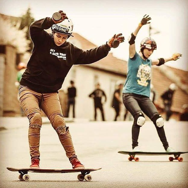 LGC Slovakia & @iconelongboards rider Kika Grezdova & @lenka_mandulova are two badasses. Hope you're all enjoying the weekend!  #longboardgirlscrew #womensupportingwomen #slovakia #skatelikeagirl #girlswhoshred #iconelongboards