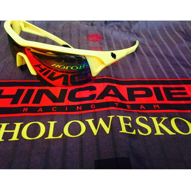 We're celebrating @teamhincapie's dominance at #cascadecyclingclassic and their start at #TourOfUtah with a giveaway!  Enter to win the Hi Vis Screw Over and Hincapie team kit from @hincapiesports by posting a photo of your happy place on the bike with...