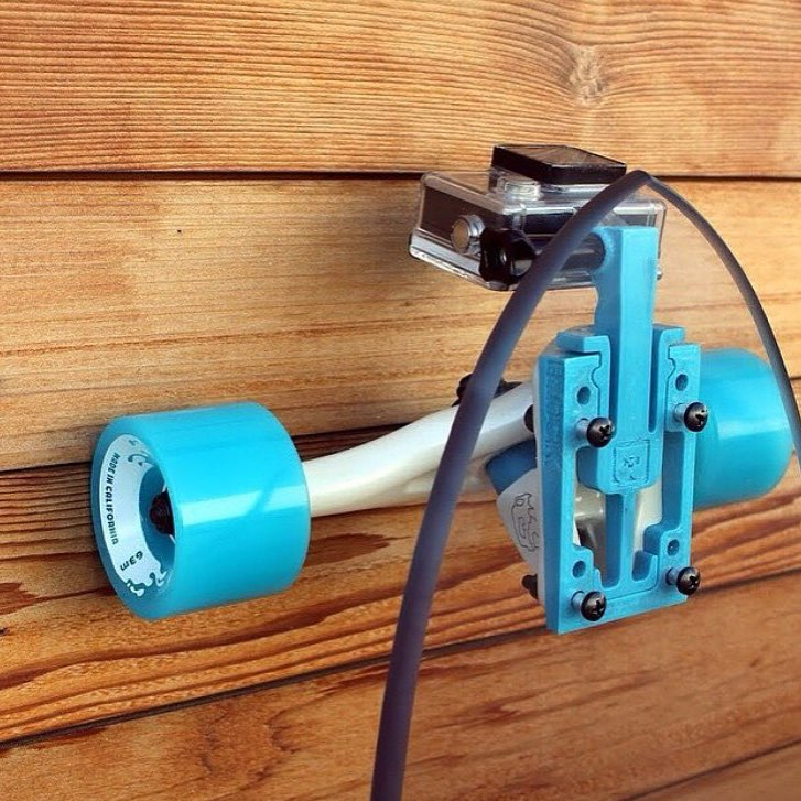 Got a @gopro??? Mount it to your skate with @blockrisers!! #jellyskateboards #blockrisers #jellymanowar #longboard #worldsfirst