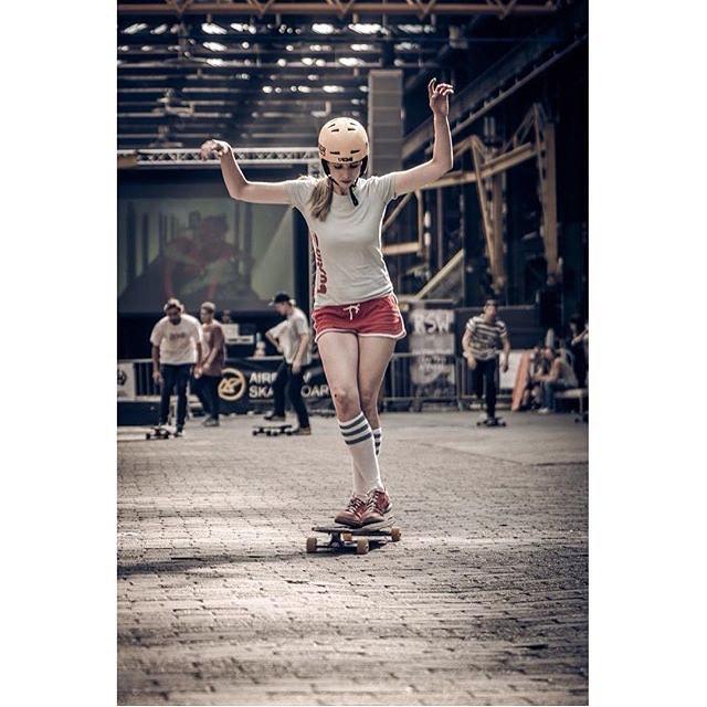 LGC Germany rider Frau Blume during the #LiveLongboarders contest shot by the amazing @unai_bellamy!  #longboardgirlscrew #womensupportingwomen #skatikeagirl #girlswhoshred #unaibellamy