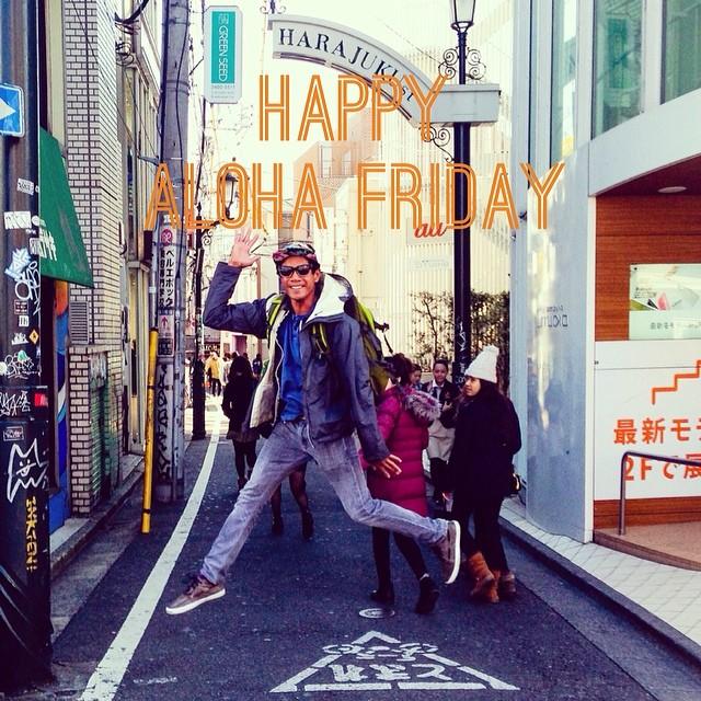 Happy #alohafriday #firstfriday #harajuku last week #Tokyo #japan