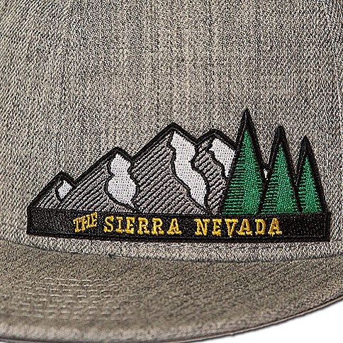 Close up of our Sierra Nevada hat. #mountains #tahoe #sierranevada #risedesigns #snapback #hat