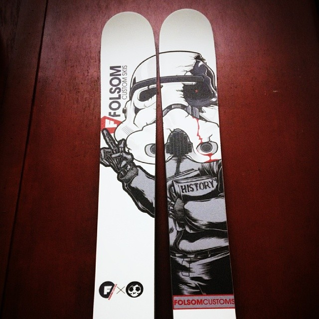 #theforce is strong with young @grantsavidge . These are his new custom 186cm Raptures.