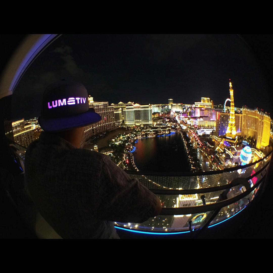 The #Lumativ E5 #snapback. Proof you can still shine in the City of Lights.  #Vegas #LasVegas #SinCity #LiveBright #snapbacks #headgear