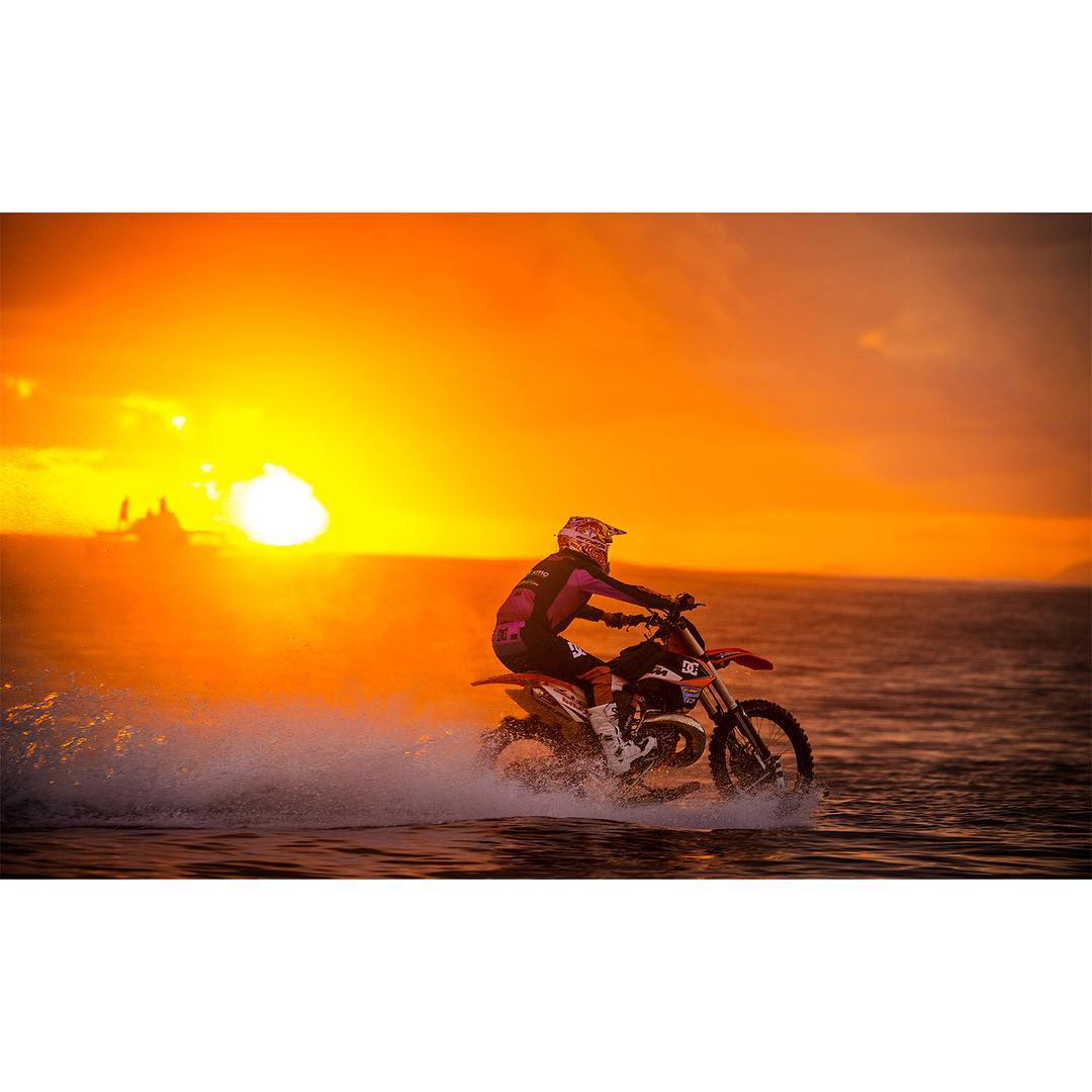 @RobbieMaddison's motorcycle surf was three years in the making.  Click the link on our profile page to check out the full clip! (