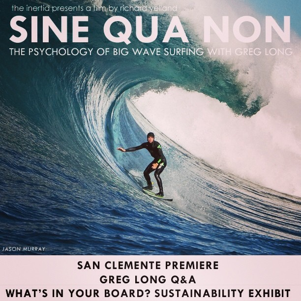 Come party with Sustainable Surf, The Inertia & Greg Long this coming Thurs night in San Clemente @ the Surfing Heritage & Culture Center !  See the next post for all the info :)
