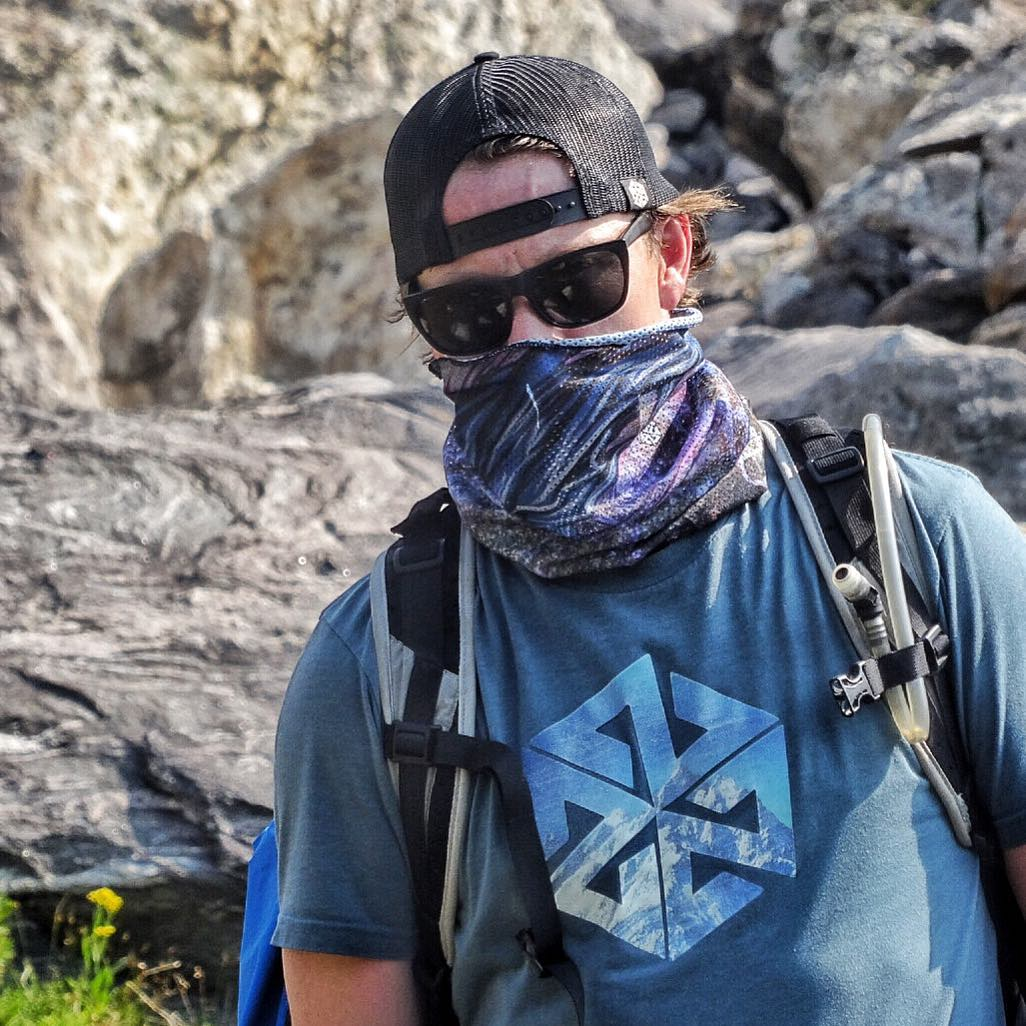 The sun can be devastating in the high alpine. Our Mesh Tshield Facemasks keep the sun and the mosquitos from wrecking your day. Bonus tip: dip your Tshield in water and it will keep you cool as you hike!
