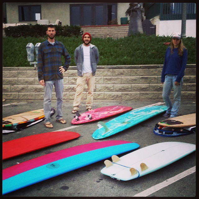 Bustin out the whole quiver of ecoboards in our collection for a little surf demo with the local Patagonia store crew. Fun times.