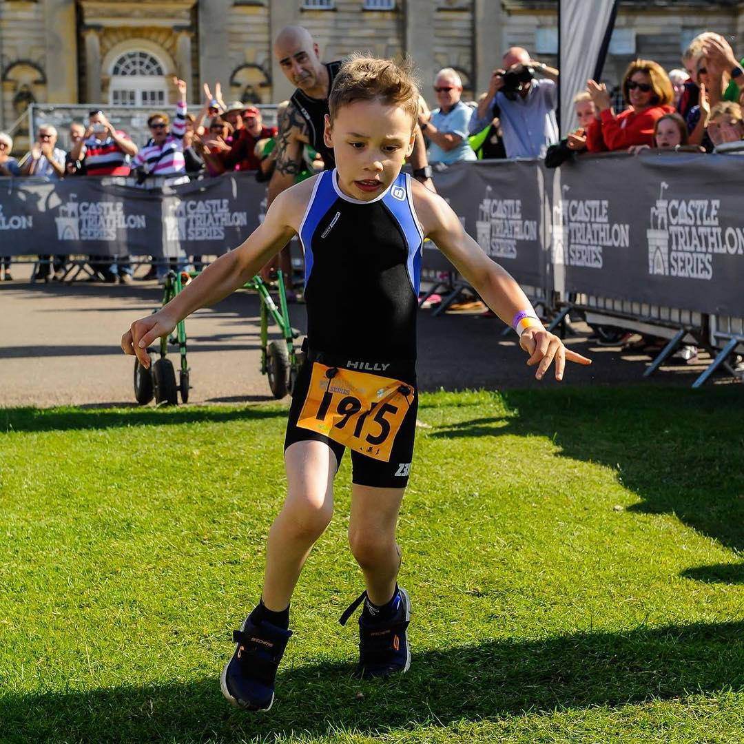 100-metre swim, 4,000-metre bike, and a 1,300 metre run. That's what Bailey Matthews did this weekend. At 8 years old, Bailey did what most adults, let alone children cannot. But that's not all. Bailey suffers from Cerebral Palsy - a movement disorder...