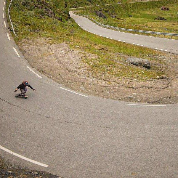 #rayneteam rider @dcarlsonskate is out in Europe enjoying the extensive roads and deep hairpins