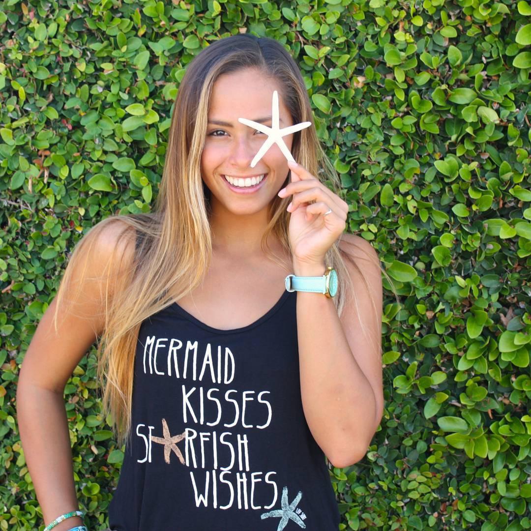 @izzyisup is a #mermaid MERMAID KISSES \\ STARFISH WISHES  shop the look @ www.luvsurfapparel.com #luvsurf #LUVRep #lifeoutdoors #oceanluv #seaside #california #wishuponastarfish