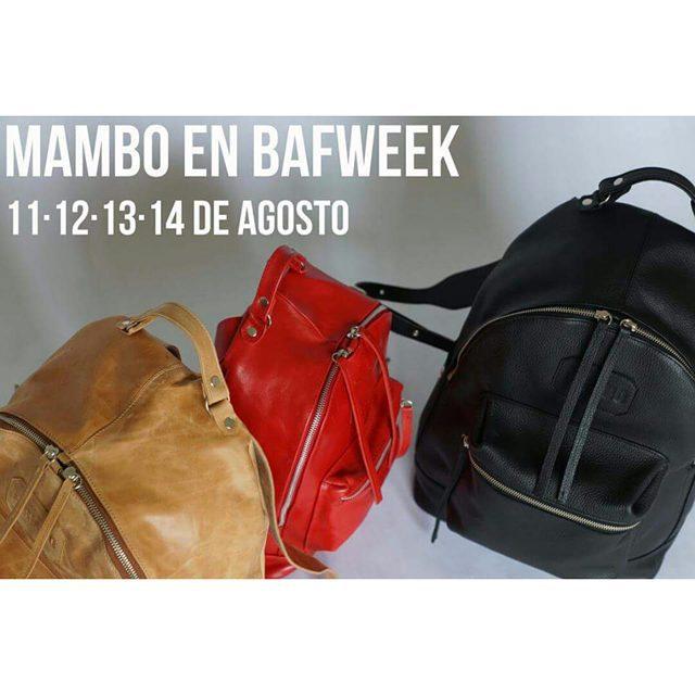 Nuestro showroom de agosto es en La Rural. Vení a buscar tu Mambo al @bafweekoficial .
