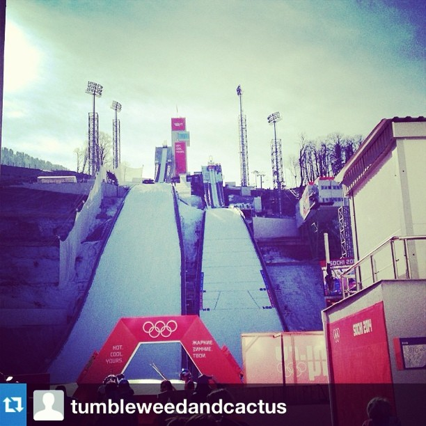 #Repost from @tumbleweedandcactus. So proud of the first women's ski jumping team! Crush it ladies. #USA #Sochi #Olympics #Skijumping #grafficornmagic