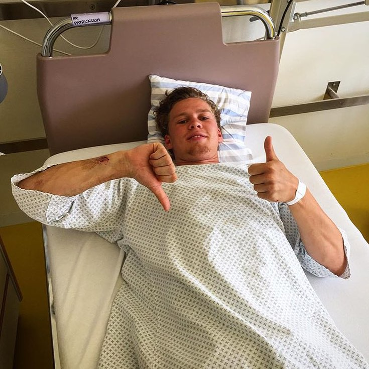 Team rider @henningpat ended a run at the hospital on his European skate travels, wishing you the best and a fast recovery duder! #gloveyoulongtime send this dude some positive vibes!!!