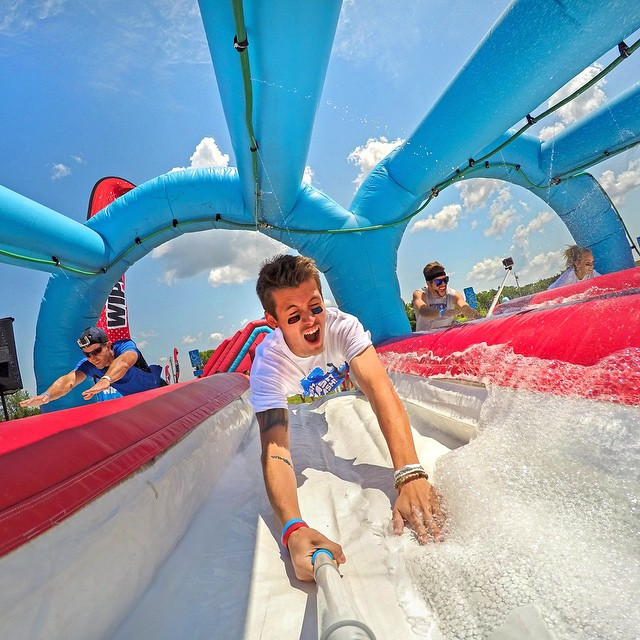 @bradygopro having a blast at the @wipeoutrun. GoPro HERO4 | GoPole Reach #gopro #hero4 #gopole #gopolereach #wipeoutrun