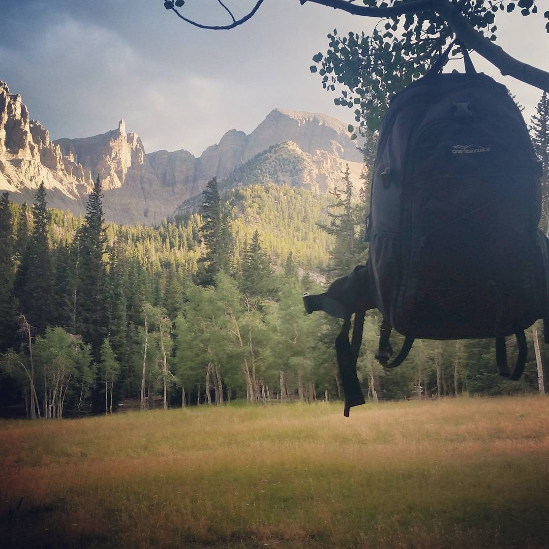 Hanging out #camping at Wheeler Peak with the Tahoe backpack.  #getoutdoors #takeittothepeak #backpacks #graniterocx