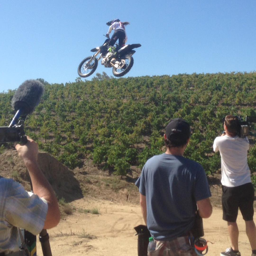 We're in Temecula, Calif., filming with three-time ❌ Games gold medalist @vgolden423!  Our #BeingSeries Vol. 3 Show will air Aug. 30 on ABC.