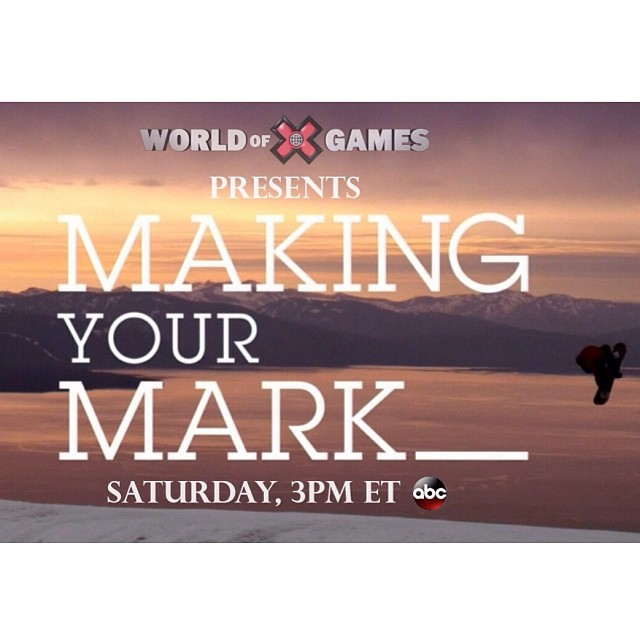 From the plains of Canada to the Olympic stage. Sit back and enjoy the journey of X Games champ, @markmcmorris today on ABC.  #makingyourmark