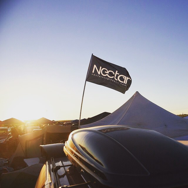 Being lost at a festival is not fun. Use our flag and make it back to base safely! @silly_connor did just that || #flyhigh #nectarlife #nectarsunnies #festivalseason