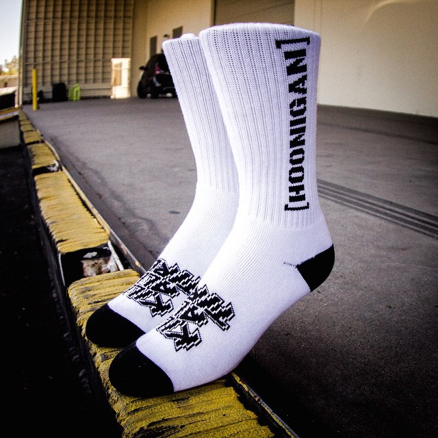 Even our socks hate tires. Find 'Em at #hoonigandotcom, @zumiez and other rad retailers!