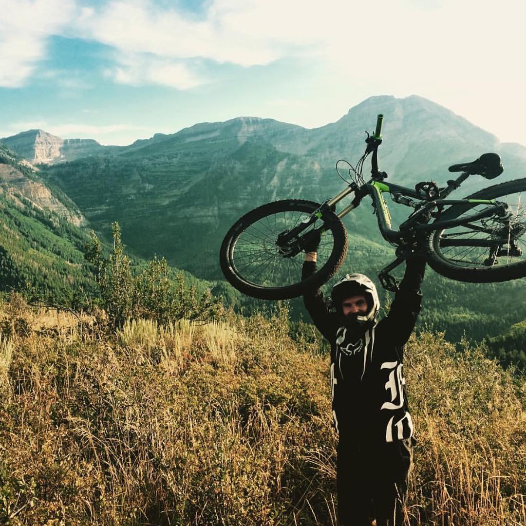 "@ty.dudski showing some serious #MountainLife #enduro #mountainbiking in #Utah ""what's your #mountainlife?"" Show us with our #hashtag #mountainlifeco #climbing #kayaking #mountains #rivers #hiking #camping #mountainbiking #downhill #BMX #trailrunning..."