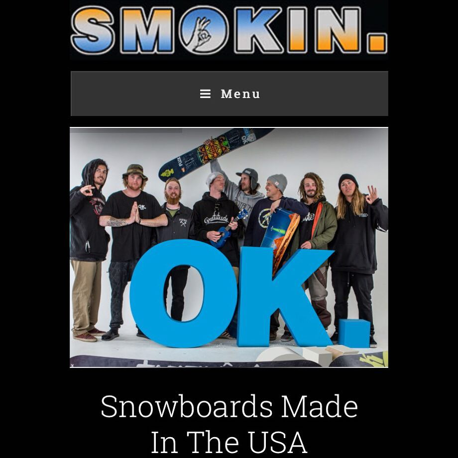 We would like to announce to launch of our 2016 Smokin Snowboards website. I want to thank our team, @motorhome , #NealDrake , our talented snowboard craftsmen, and you- the snowboard community who have supported us and made our brand what it is today....