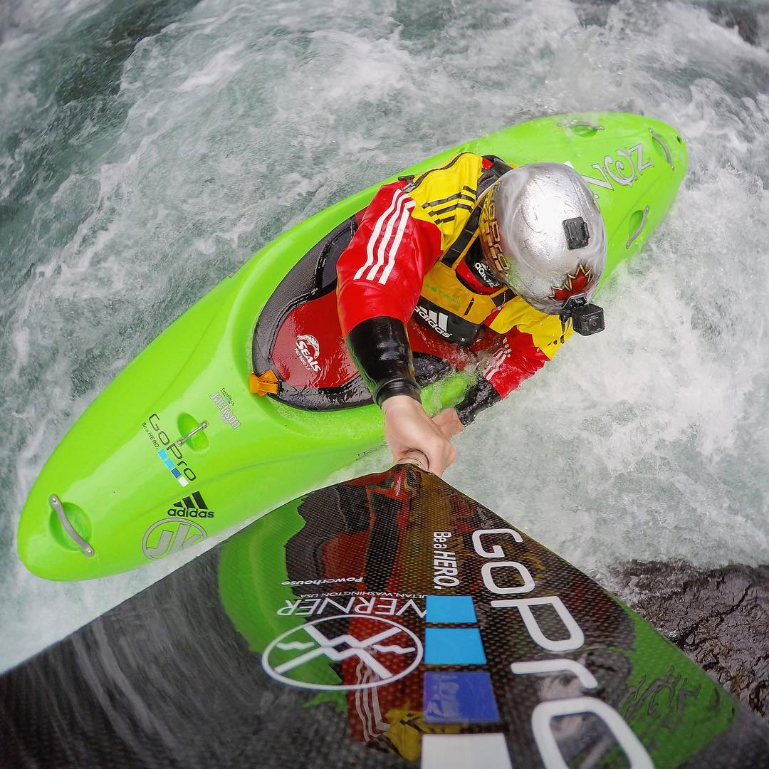 As if his adorable son and epic family weekends weren't enough to grab your attention, give @nicktroutmankayak a follow and see kayaking from a whole new perspective! Nick will pick one of his new followers for a chance to win a #GoPro #HERO4Session.