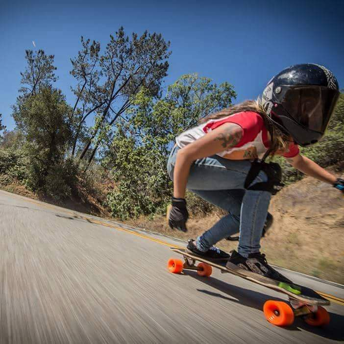 @chelagiraldo ripping a California canyon road on her #raynemisfortune during her North American tour