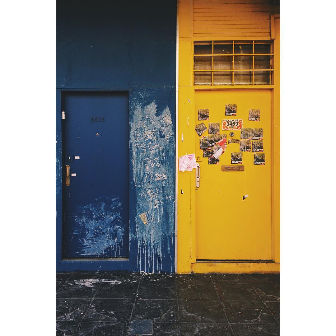 """""""There are so many doors to open. I am impatient to begin.""""C.G #charliegordan #quotes #apple #iphone #doors #blue #street #streetart #yellow"""