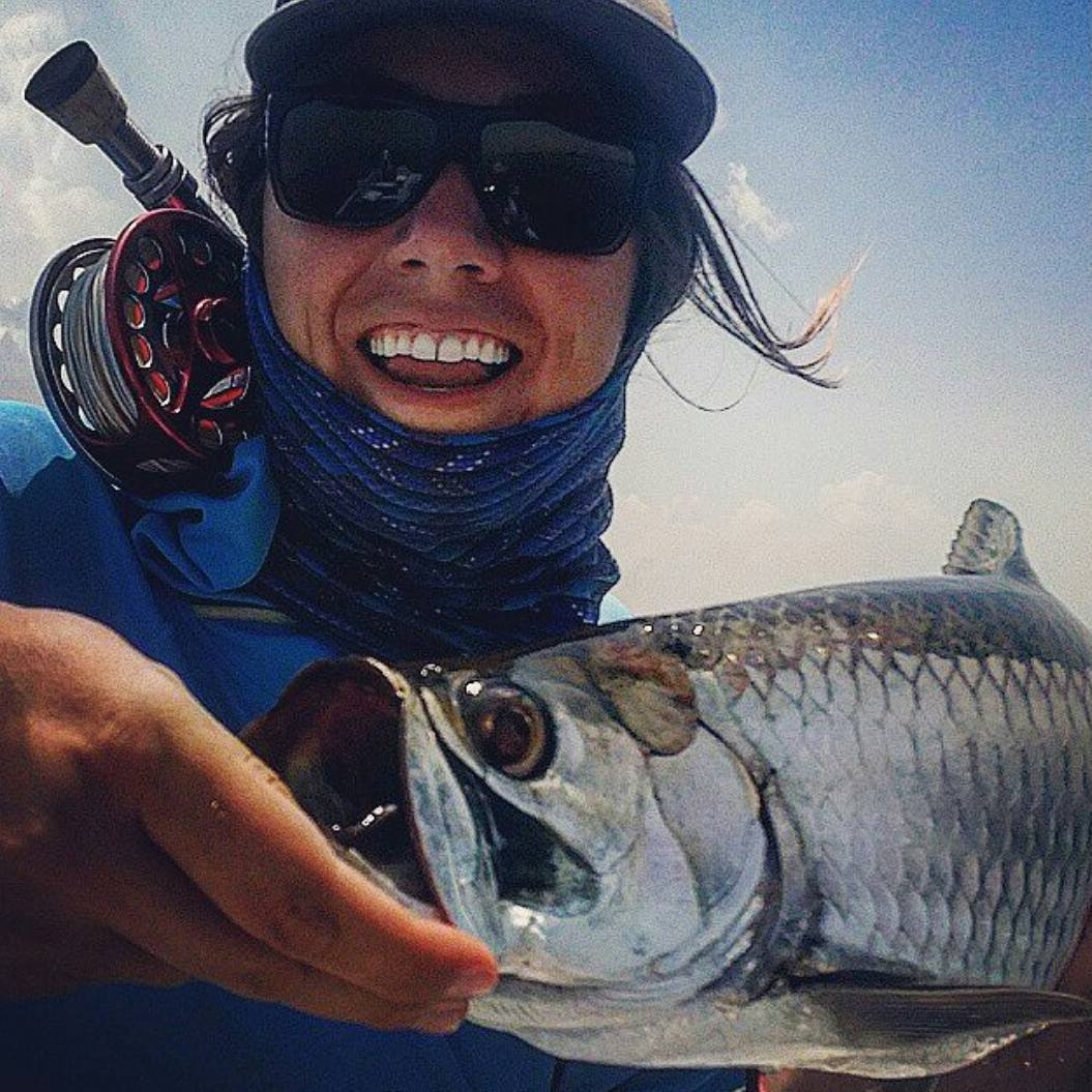 "#Regram from @ovelle. Way to keep jumping toward your goal. She said: ""It's been such a killer summer, learning to fly fish down in the Yucatan, but it's had its ups and downs! Most days I've been so frustrated I could cry (or break a rod) but after a..."