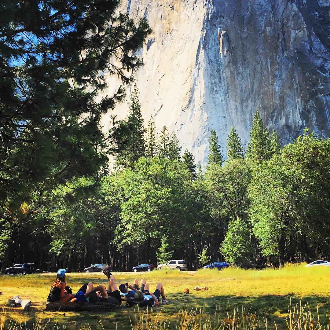 Spending time with family and friends while basking in the glory of #elcap and #yosemite one day...maybe