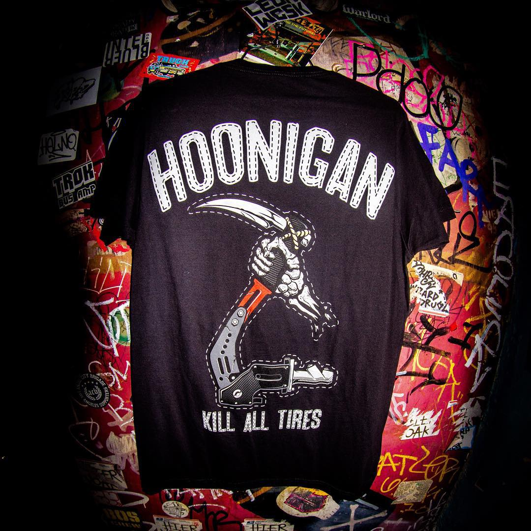 #KillAllTires reaper tee, only available at select @tillys stores(and tillys.com). #backhit #supporthooniganism