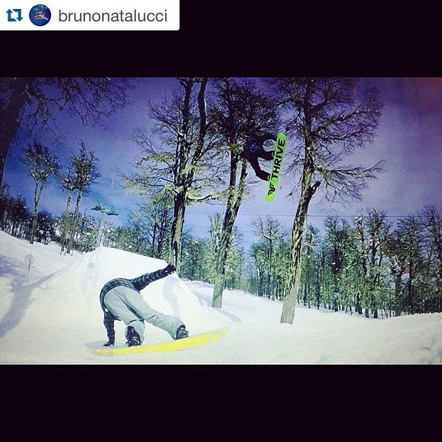 @brunonatalucci one of  our @thrivesnowboards  cree with a frontside 360 tail at Patagonia  Riding #relentless with @repostapp. ・・・ Hoy con aman! @thrivesnowboards #LaResistencia #snowboard