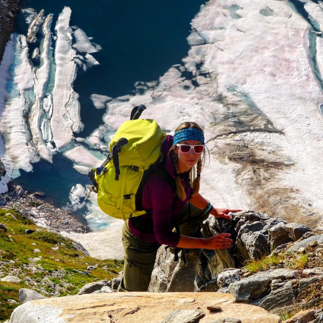 @kyehalpin descends into chaos rocking one of our Teal and Purple #Tshields as a headband. You can wear them 7 ways, which is why we call them The Ultimate Adventure Accessory! #AVALON7 #liveactivated #mountaineering www.avalon7.co